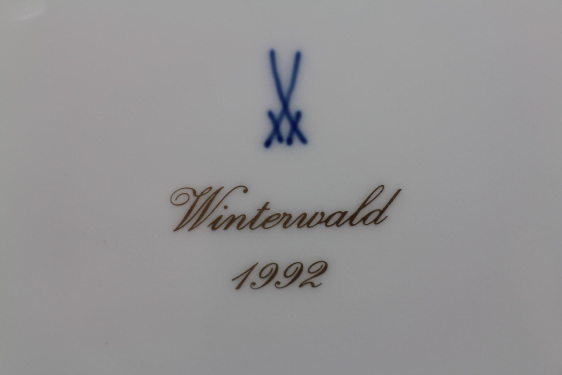マイセン イヤープレート 1992年 冬の森4