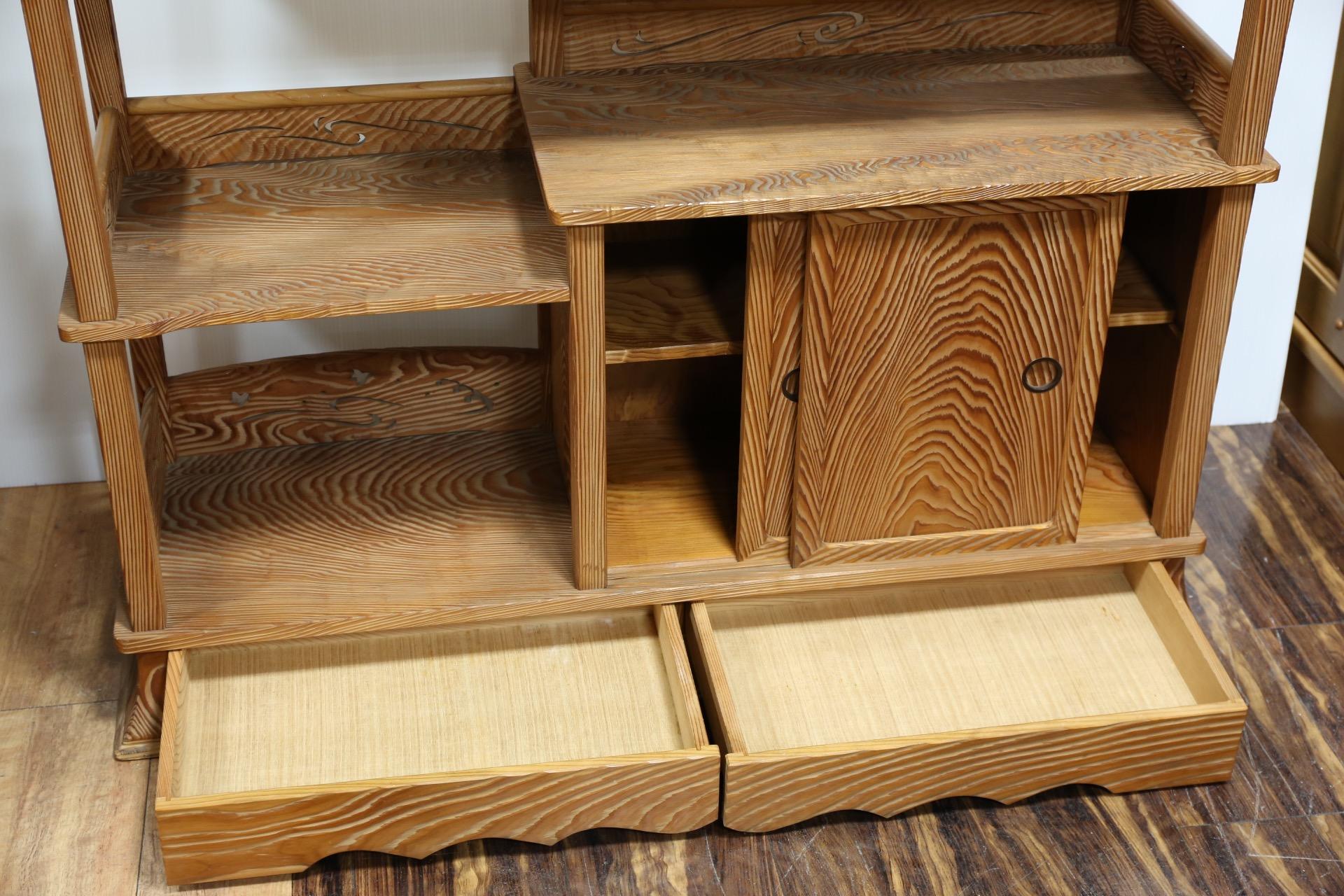 杉材の茶棚 [3K-1577]3