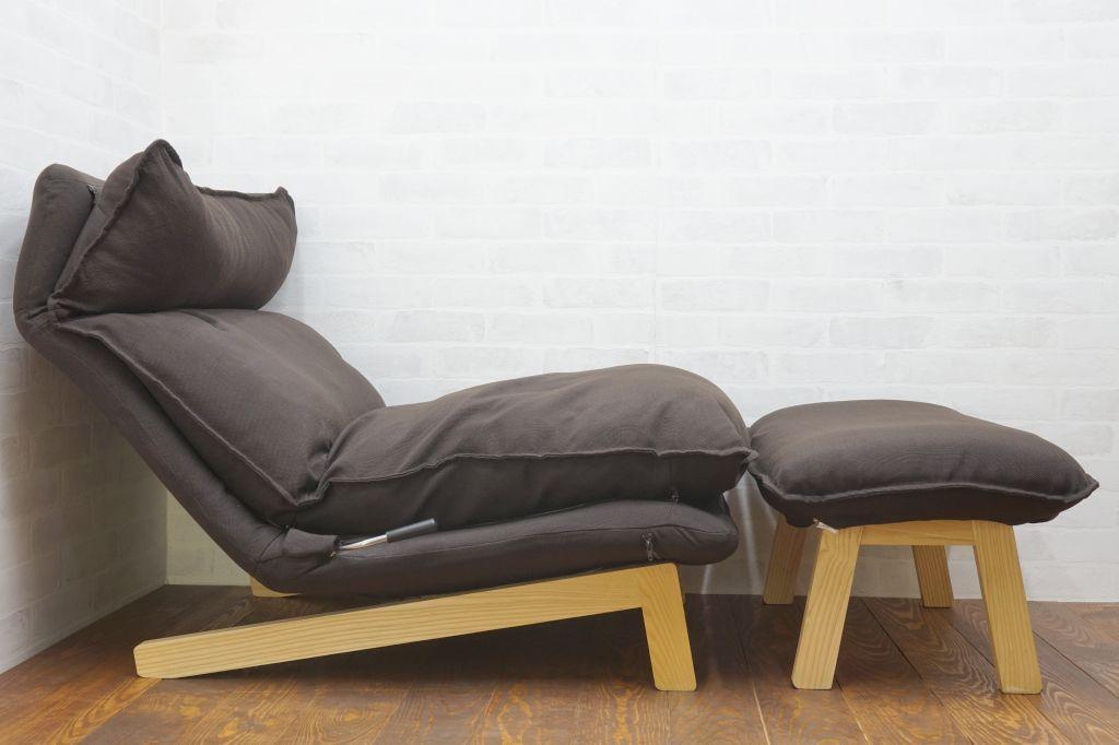 無印良品 ハイバックリクライニングソファー(1シーター)オットマン付き2