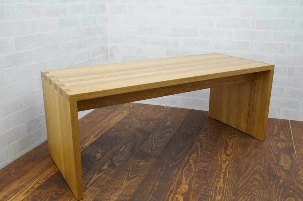 無印良品 MUJI オーク無垢材 テーブルベンチ ナチュラル ローボード ◎