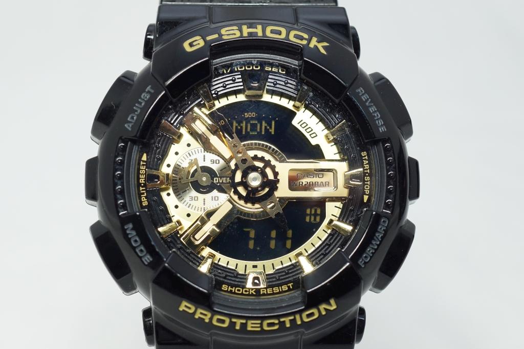 G-SHOCK ブラック×ゴールド シリーズ GA-110GB-1ADR