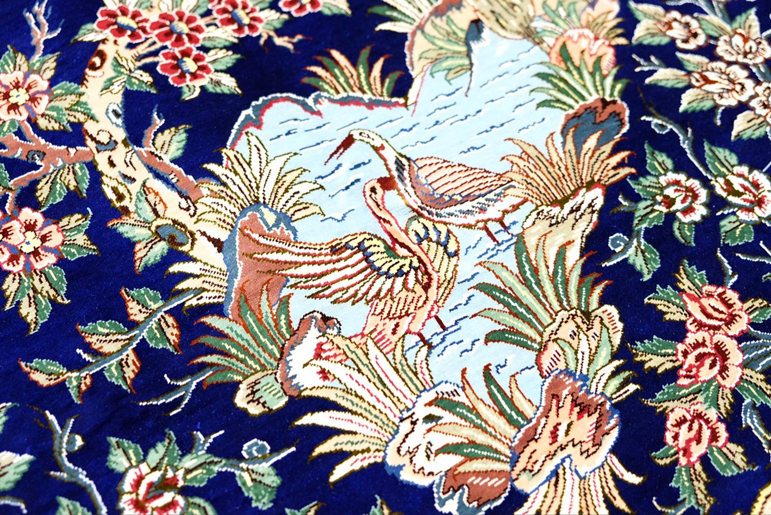 イラン・クム産 ペルシャ絨毯2